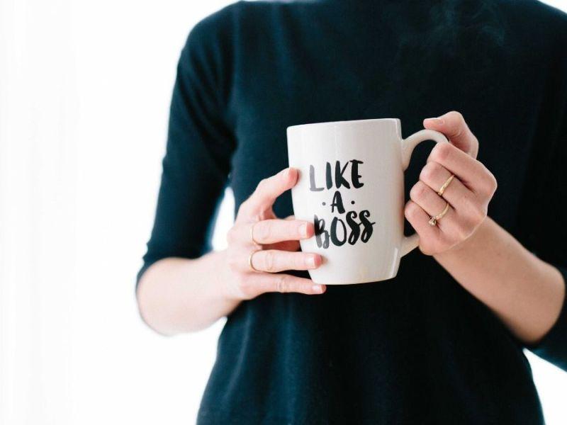 Business Woman, Like a Boss, Mug, Woman, Business,